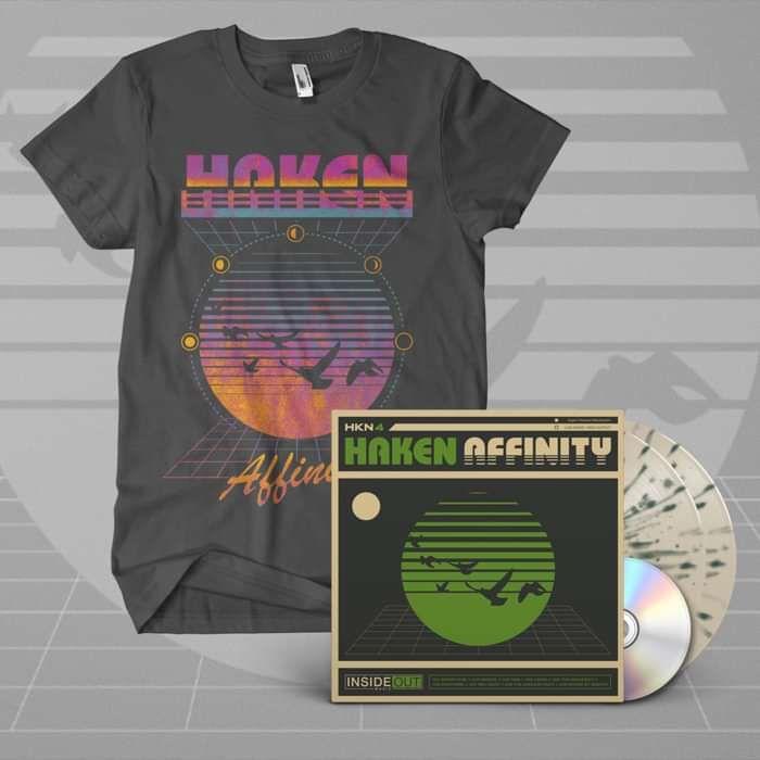 Haken - 'Affinity' White & Green Splattered Gatefold 2LP + CD + T-Shirt Bundle - Haken