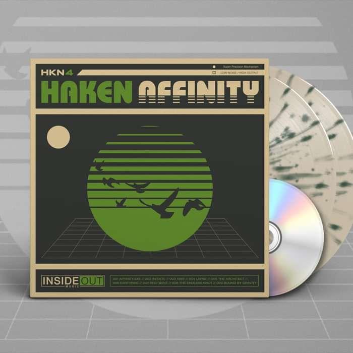 Haken - 'Affinity' White & Green Splattered Gatefold 2LP + CD - Haken