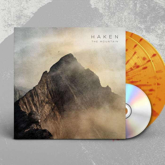 Haken - 'The Mountain' Yellow & Red Splattered Gatefold 2LP + CD - Haken