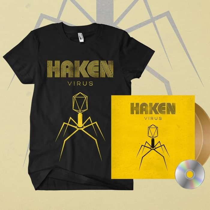 Haken - 'Virus' *EXCLUSIVE* Gold Gatefold 2LP + CD + T-Shirt Bundle - Haken