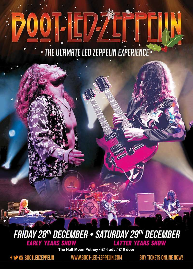 boot led zeppelin 50th anniversary tour early days show at half moon putney london on 28. Black Bedroom Furniture Sets. Home Design Ideas