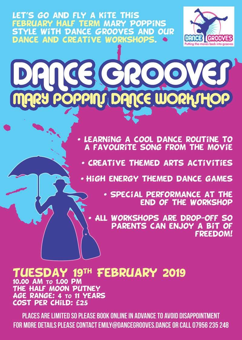 Mary Poppins themed Dance & Creative Half Term Workshop at