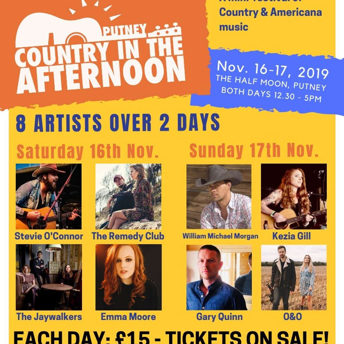 Country In The Afternoon Festival at Half Moon - Putney, London on 17 Nov  2019