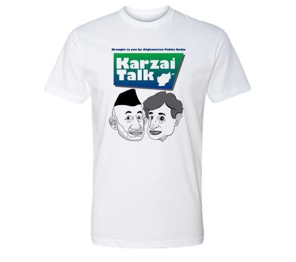 Karzai Talk T-Shirt DTG - Harry Shearer