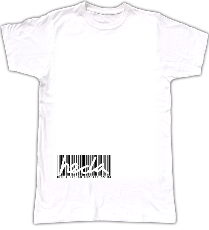 Barcode T - WHITE - Hecla Clothing