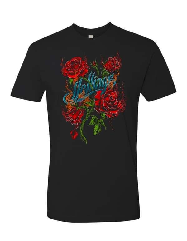 Mens/Womens Hellings Roses T-Shirt - DTG - Hellings