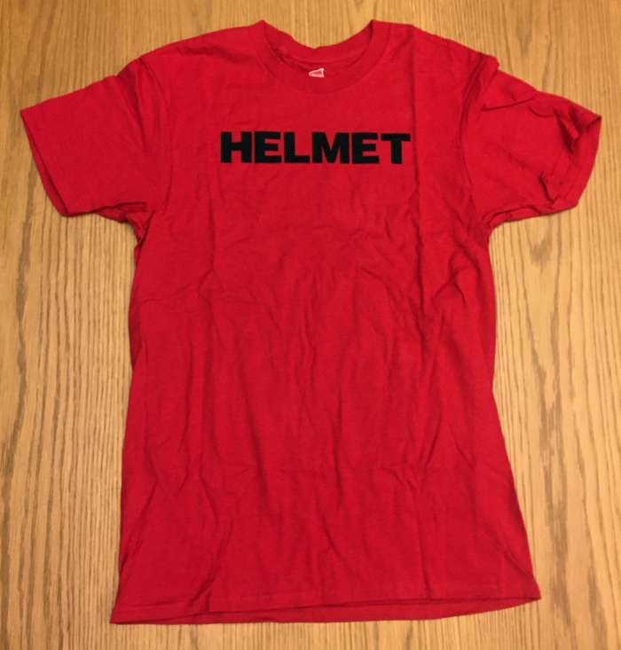 Logo Tee - Red (Youth Medium) - Helmet