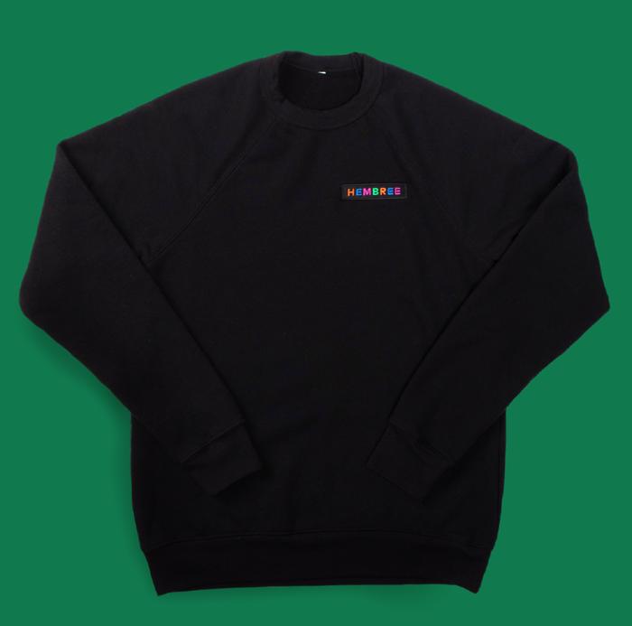 100% Music Black Crewneck Sweatshirt - Hembree
