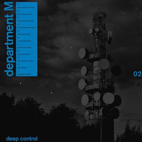 Department M - Deep Control (Screen Printed Vinyl LP) - Hide & Seek Records