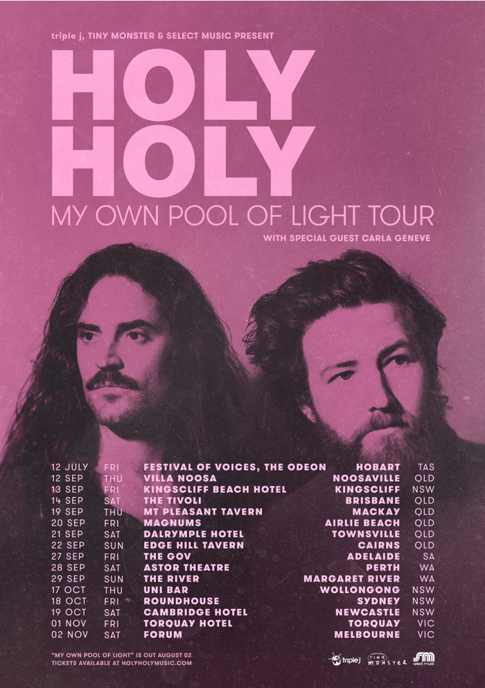 Poster - 'My Own Pool of Light' Album Tour - Holy Holy