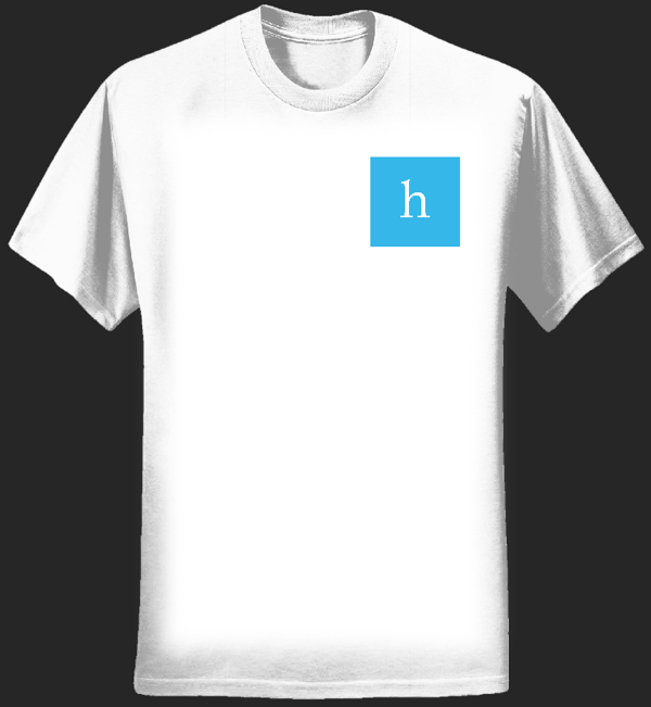 Pocket Blue 'h' T-shirt - Hoofa