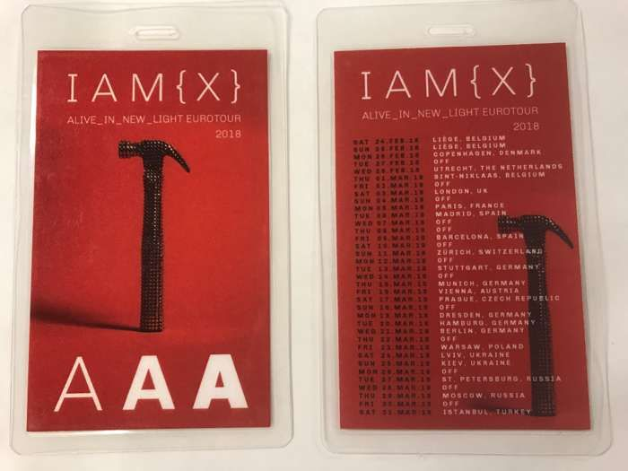 Alive In New Light Euro1 Tour Laminate - IAMX