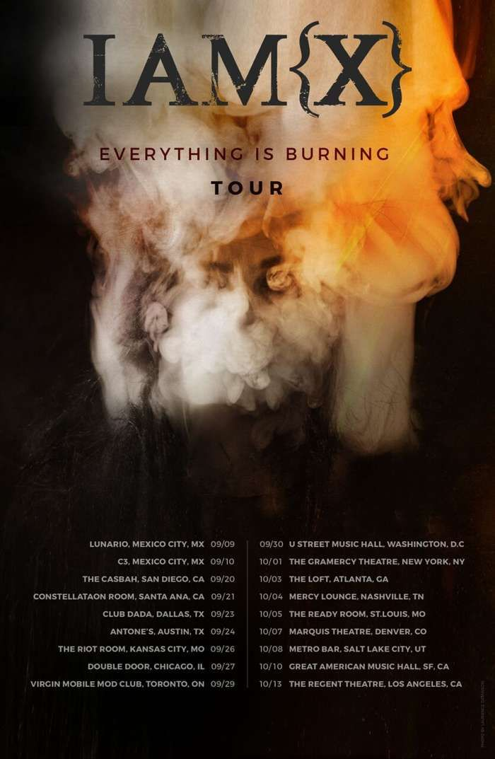 Everything Is Burning Official North America Tour Poster - IAMX