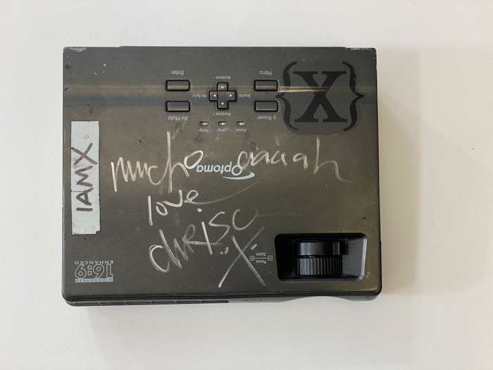 Projector - signed by Chris - IAMX