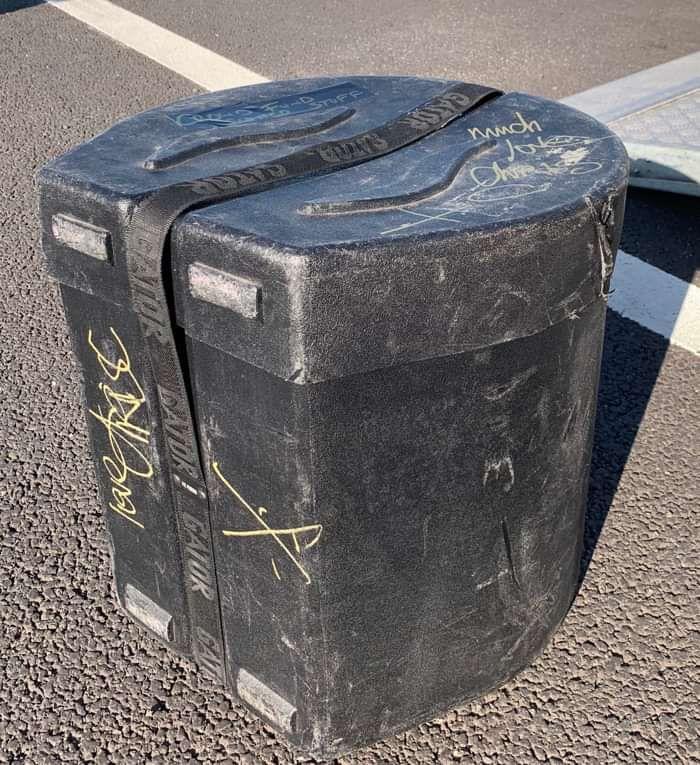 Tom Drum Hardcase - signed by Chris - IAMX
