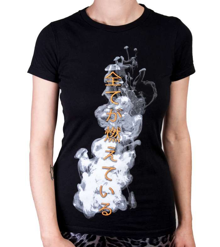 Women's Everything Is Burning Euro Tour Tshirt - IAMX