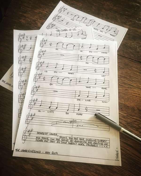 Shape Of Us - Handwritten Music & Lyric Sheets (unframed) - IanBrittMusic