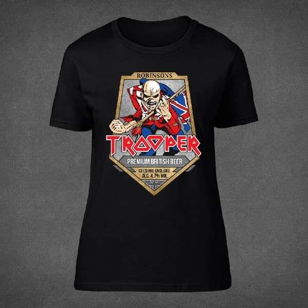f31b9e2c1 Trooper Beer Womens T-Shirt - Iron Maiden