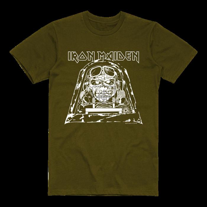 Aces High Graphic Khaki Tee - Iron Maiden [Global USA]