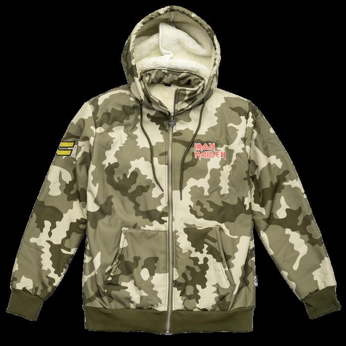 Camouflage Fleece Lined Zip Jacket - Iron Maiden [Global USA]