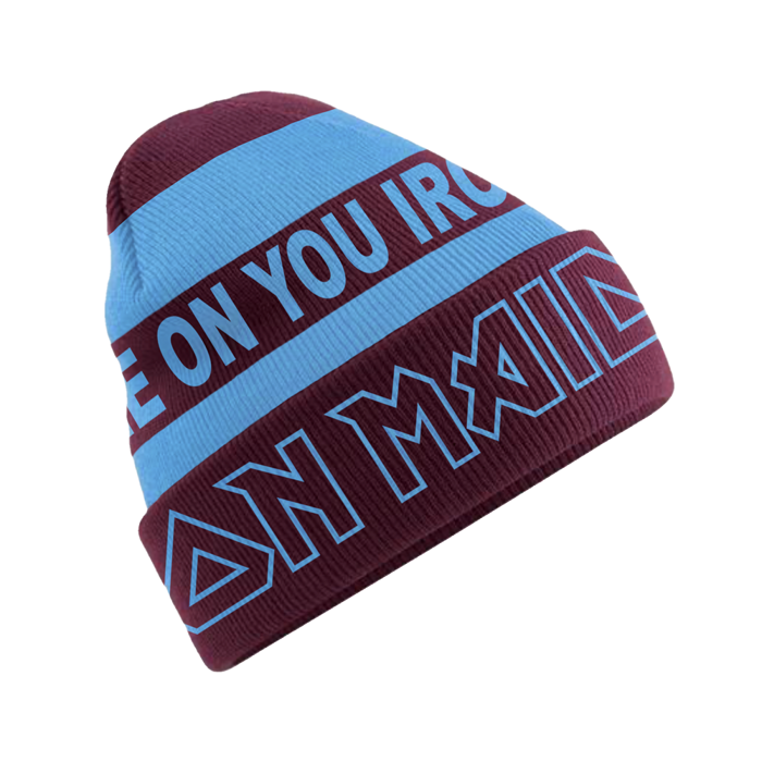 Come On You Irons Beanie - Iron Maiden [Global USA]