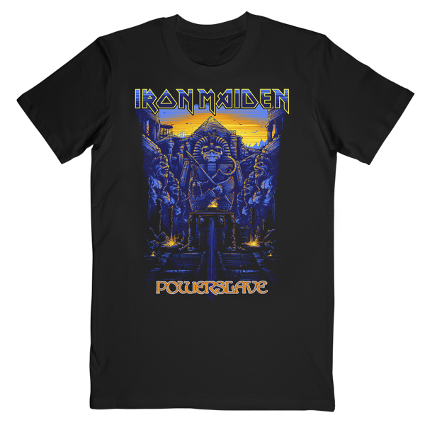 105c12118 Dark Ink Powerslave Tee - Iron Maiden