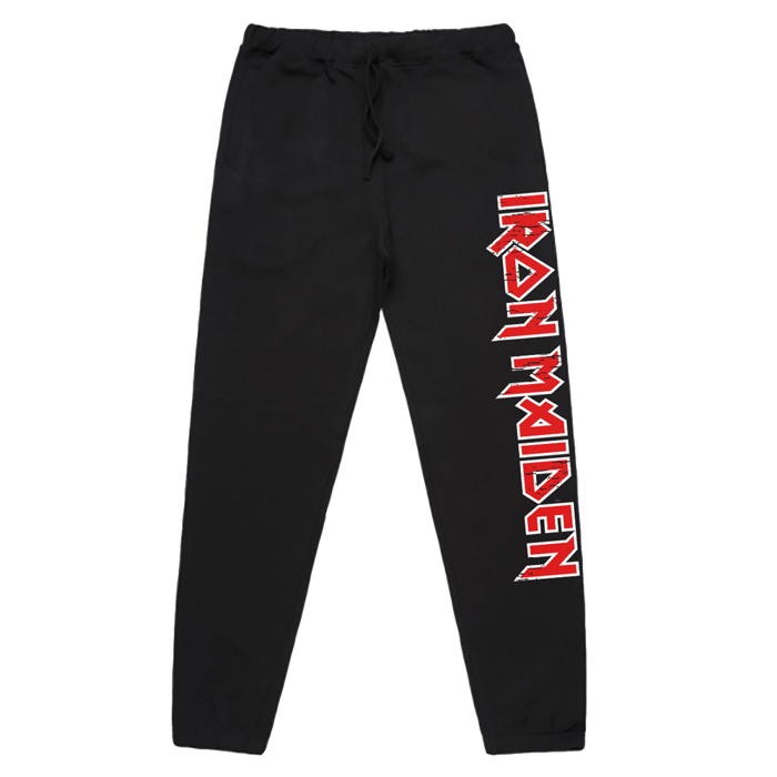 Distressed Logo Sweatpants - Iron Maiden [Global USA]