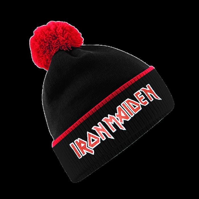 Iron Maiden Logo Bobble Hat - Iron Maiden [Global USA]