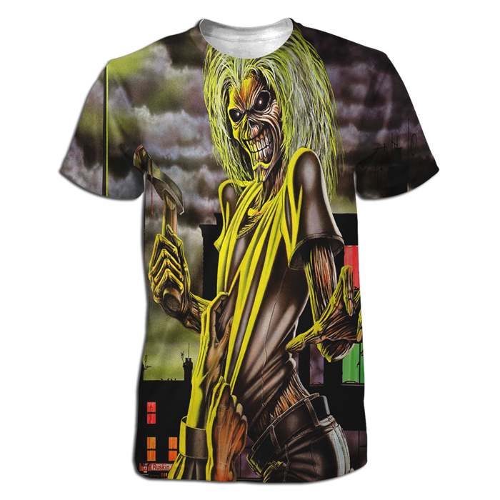 Killers All Over Dye Sublimated T-Shirt - Iron Maiden [Global USA]