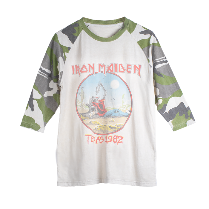Maiden Remastered The Beast Tames Texas '82 Camo Raglan Tee - Iron Maiden [Global USA]