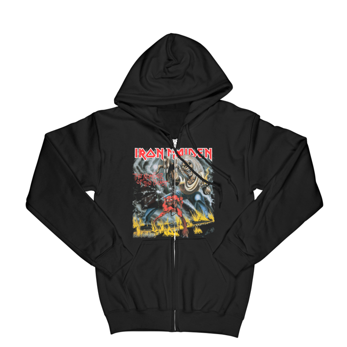 Number of the Beast Zip Hoodie - Iron Maiden [Global USA]