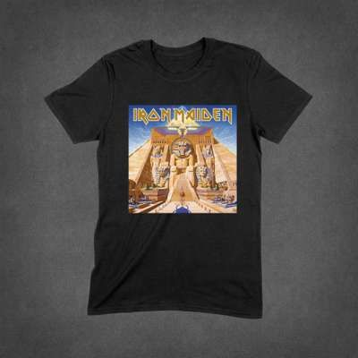 7c4e99a18a9 Powerslave Album Cover Tee