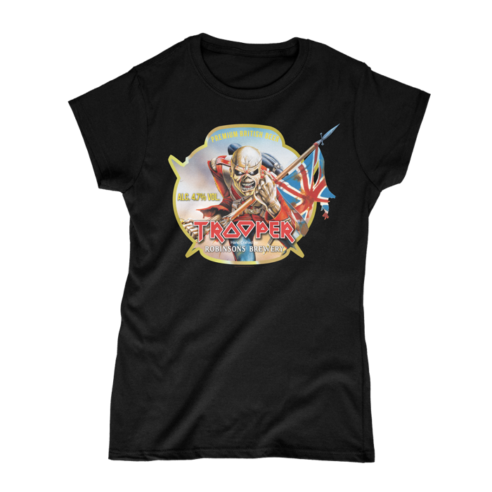 Retro Trooper Beer Womens T-Shirt - Iron Maiden [Global USA]