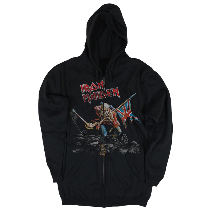 Scuffed Trooper Zip Up Hoodie - Iron Maiden [Global USA]
