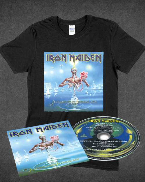 737d4173 Seventh Son of a Seventh Son Album Digipak and T-shirt Bundle