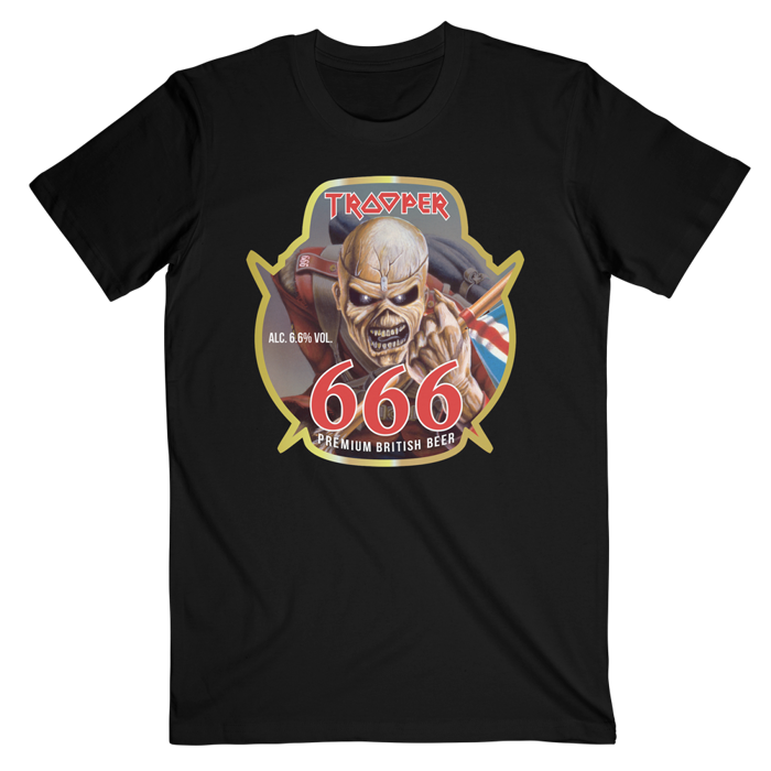 Trooper 666 Beer T-Shirt - Iron Maiden [Global USA]