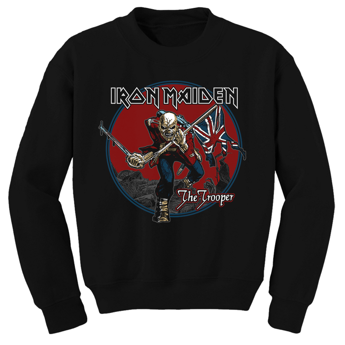 Trooper Red Sky Sweatshirt - Iron Maiden [Global USA]