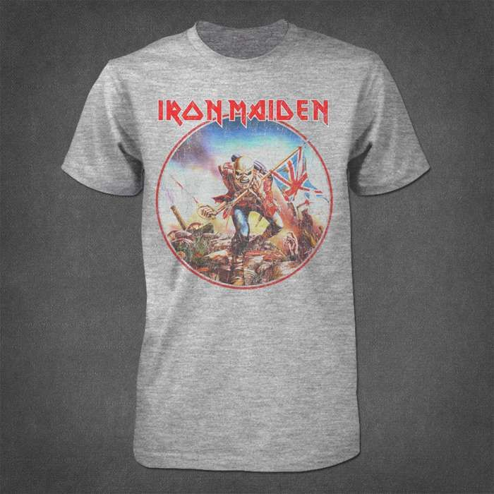 Trooper Vintage Circle T Shirt - Iron Maiden [Global USA]