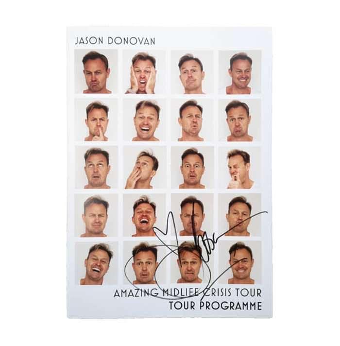Jason Donovan Midlife Crisis Programme - SIGNED! - Jason Donovan