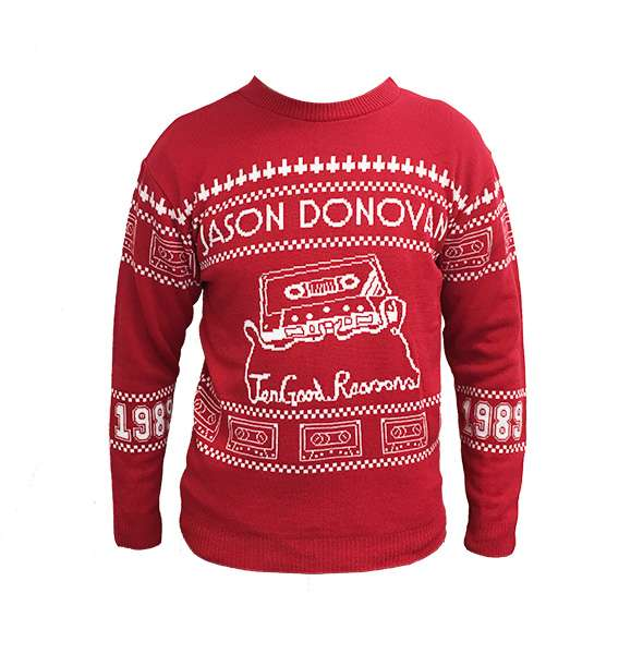 Jason Donovan Ten Good Reasons Christmas Jumper - Jason Donovan