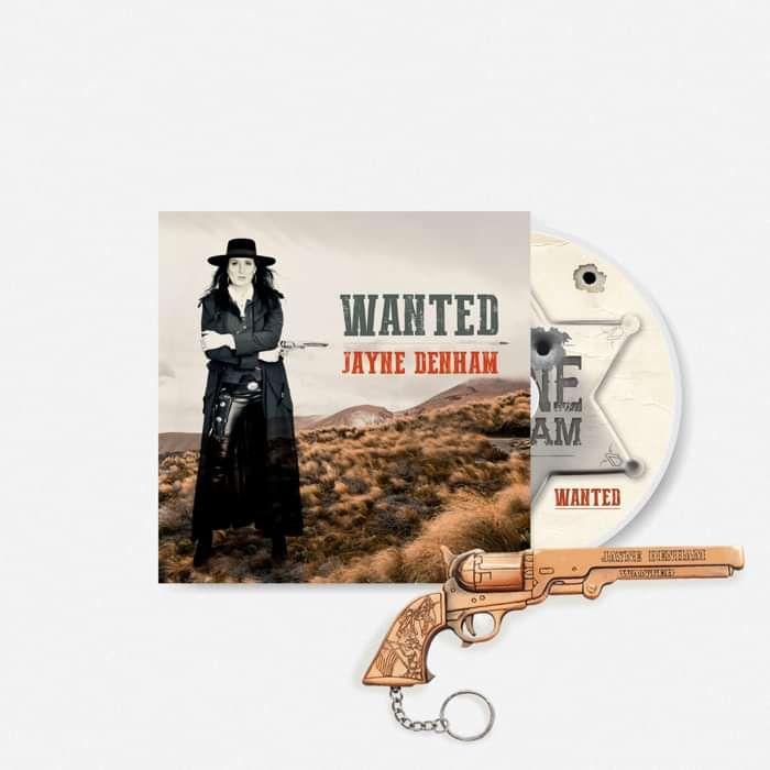 'WANTED' CD & keyring bundle. - Jayne Denham