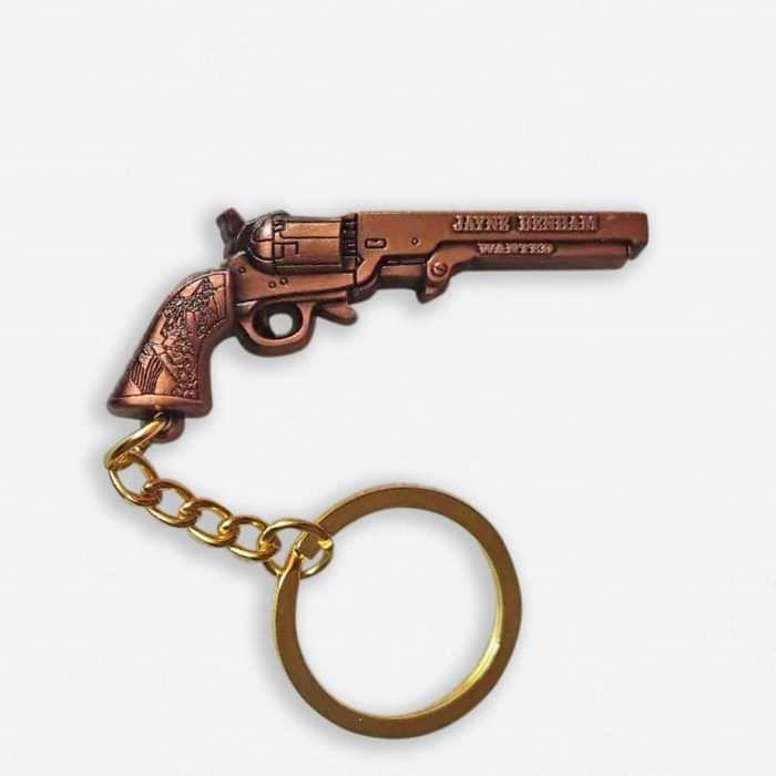 WANTED - Pistol key ring & bottle opener - Jayne Denham