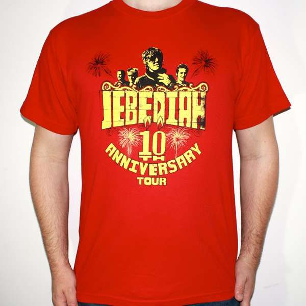 10th Anniversary - Red T-Shirt - Jebediah