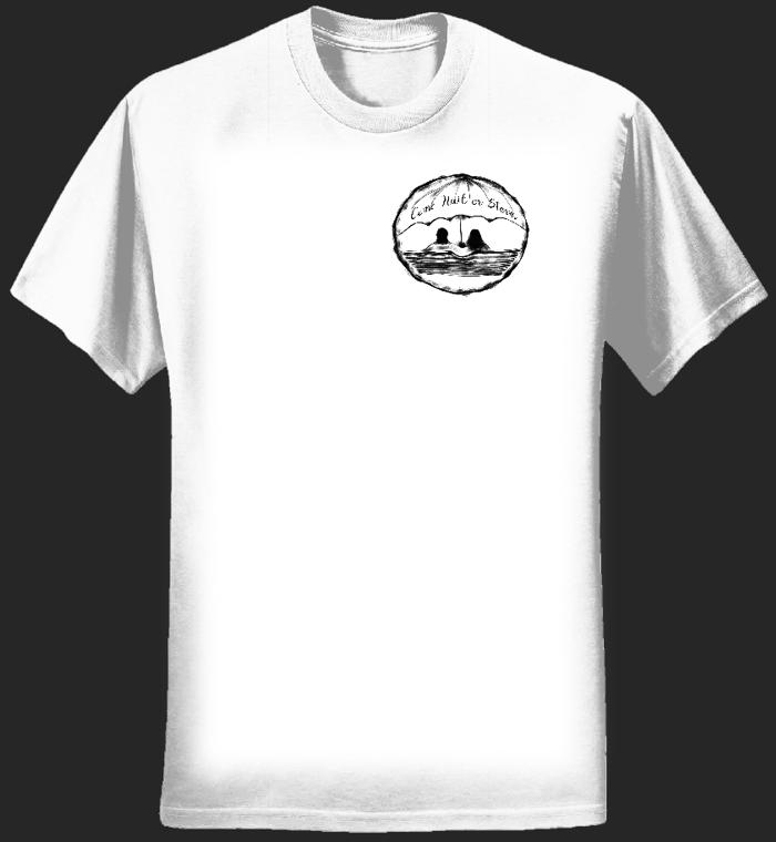 Logo size: Come Hail or Storm - T-Shirt - Lovers on a Public Bench - Men - Jeremy Levif