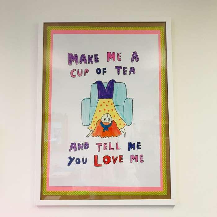 A2 BIG TEA PRINT - Jessie Cave