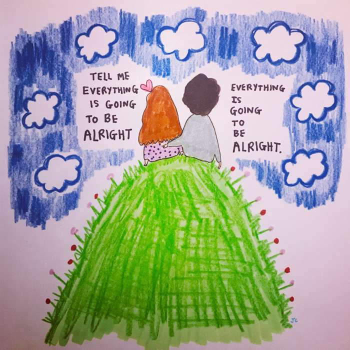 ALRIGHT WITH CLOUDS HAND DRAWN - Jessie Cave