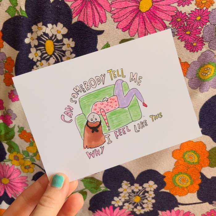CAN SOMEBODY TELL ME PRINT - Jessie Cave