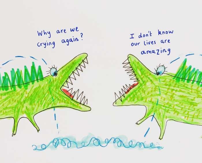CROCODILE TEARS PRINT - Jessie Cave