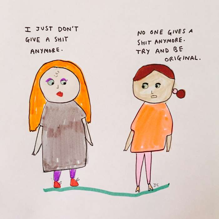 Don't give a shit - Jessie Cave