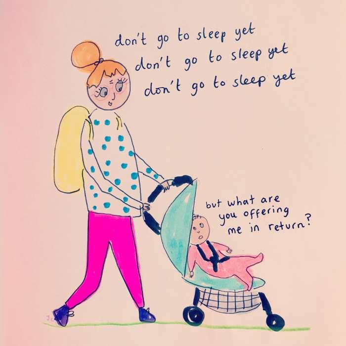 DON'T GO TO SLEEP PRINT - Jessie Cave